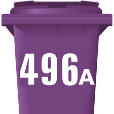 "3 Pack WHEELIE BIN NUMBERS x 3 WHEELY NUMBER STICKERS 7"" DUSTBIN SELF ADHESIVE"