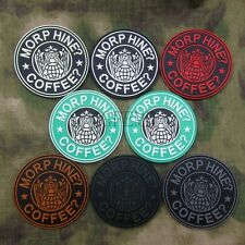 Starbucks Coffee MORPHINE AND COFFEE Tactical Morale 3D PVC Velcro Patch