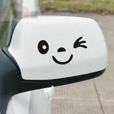 1Pair Smiley 3D Mini Car Rearview Mirror Decal Sticker Black White Yellow HOT