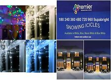 Christmas Xmas Led Lights Snowing Icicles Indoor Outdoor House Tree Warm / White