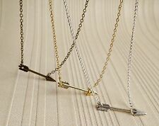 Tiny Sideways Arrows Necklace in Simple style
