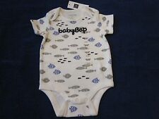 Baby GAP Boy Short Sleeve Body Suit Swimming Fish New 394511 T-Shirt