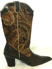 Women's Fashion Western Cowgirl Cowboy Ankle Boot Low Heel Boots Shoes Sz 6-10