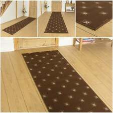 Square Brown - Hallway Carpet Runner Rug Mat For Hall Extra Very Long Cheap New