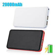 20000mAh Power Bank Portable Charger USB External Backup Battery for Cell Phone
