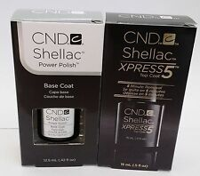 CND SHELLAC Top Coat, Base coat and Duo .5oz - Brand New