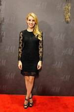 Isabel Marant Pour for H&M Black Lace Cotton 3/4 Sleeve Dress 6 US / 36 EUR