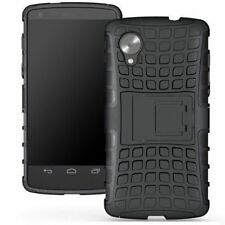 LG Nexus 5 Google Phone Heavy Duty Rugged Hybrid Armor Case Cover With Stand