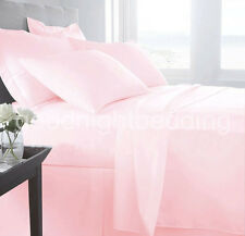 1000TC COMPLETE BEDDING COLLECTION  100% EGYPTIAN COTTON (PINK SOLID) ALL SIZE
