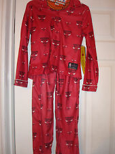 NBA CHICAGO BULLS BOY'S PAJAMAS SET NEW (RUNS 1 SIZE SMALL)
