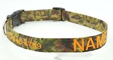 Monogrammed Personalized Dog Pet Collar Handmade Name Phone # Mossy Oak Camo