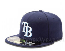 TAMPA BAY RAYS 5950 Team Cap MLB Fitted Baseball Hat On Field Home New Era