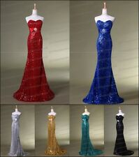 New Sequin Lace Prom Party Dresses Long Evening Pageant Dresses Size 6-8-10---16