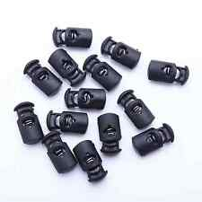 Lot of 25 50 100 1000 Plastic Black Cord Locks Stoppers Toggles End