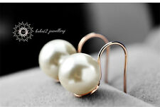 Concise/18K White/Rose Gold Plated Pearl Earring/RGE367