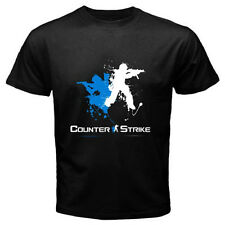 New COUNTER STRIKE Action Multiplayer Game Logo Men's Black T-Shirt Size S-3XL