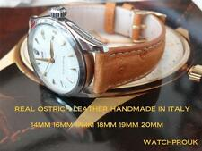 REAL OSTRICH LEATHER STRAP FOR DUNHILL,FRANK MULLER,FORTIS,MIDO,RADO,MOVADO,EBEL