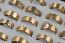 Wholesale Lots Gold P Christian Cross Bible Men's Spanish Stainless Steel Rings