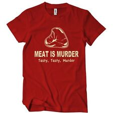 Meat Is Murder Tasty Tasty Murder T-Shirt Funny BBQ Food TEE Cooking Bacon