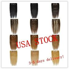 "USA STOCK !20""remy human hair clip In Extensions 8pcs & 100g ,3-5 days delivery!"