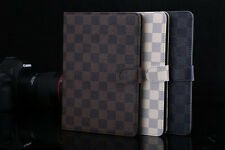 Luxury Grid Stand Smart Leather Case Cover &Accessory Film For iPad Mini 1/2/3