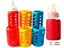 Glass Baby Feeding Bottle Cover/Bottle Sleeve Silicone Cover Protect Insulating