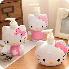 New Cute Pump Hello Kitty Head Bath Dispenser/ Shampoo Cosmetic Bottle 250ml
