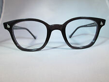 AO American Optical Safety Custom Blk/Clear NEW Hipster Eyeglasses Sunglasses