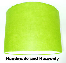 Lampshade Handmade with Lutece Plain Bright Lime Green Wallpaper MANY SIZES