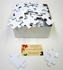 NUMBERED Wedding Guest Book Puzzle Extra Large WHITE BLANK PUZZLE PIECES