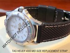 VERY GOOD QUALITY  REPLACEMENT RUBBER DIVE STRAP FOR  TAG HEUER 4000 MID SIZE