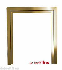 "16"" Brass 2 Piece Gas Fire Trim Frame Wonderfire Airflame Convector"