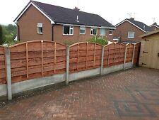 BOW TOP SUPER HEAVY DUTY WANEY LAP STOCKPORT FENCE PANELS