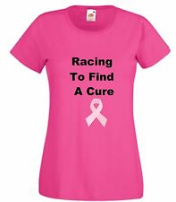 Cancer T Shirt Racing To Find A Cure Pink Charity Top