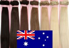 "20"" Inch 150g Clip In On Extensions AAA Grade 100% Remy Human Hair Blonde Brown"