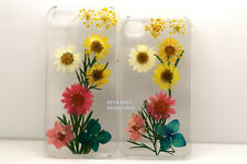 For Iphone 4 4s 5 5s 5c Cover case Pressed flower dried cute daisies white skin