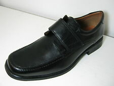 Mens Clarks Hold Roll Black Leather Smart Velcro Shoes