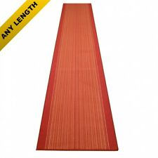 Carnaby Terracotta - Hallway Carpet Runner Rug Long Hall Anti Non Slip Gel Back