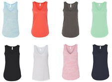 Bella - Ladies Flowy V-Neck Tank, Womens, Choose S-2XL, Tank Top (8805)