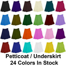 Jupon Sari Saree de Coton pur Bollywood Indian Correspondant Petticoat 24Couleur