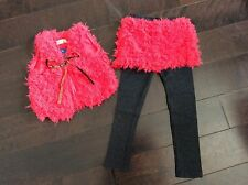 1897 Boutique 2Ps Outfits Sets Furry Vest + 100% Cotton Set-up Pants Super Cute