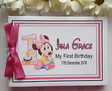 PERSONALISED BABY BOY OR GIRL* 1ST BIRTHDAY SCRAPBOOK PHOTO ALBUM * GUEST BOOK