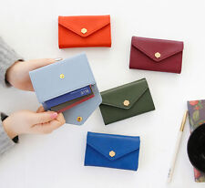 iConic Post Card Holder - Button Flap Business Name Card Credit Card Case Wallet