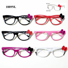 Hello Kitty Bowknot Eyeglass Glasses No Lens Spring Temple Frame No Lens Glasses