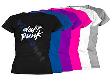 Camiseta Daft Punk XXL- XL- L- M- S Size Electronic Music No CD T-Shirt 01 Mujer