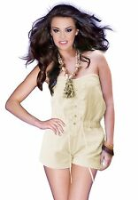 Petite Strapless Romper with Front Tie - Ships from U.S.A.