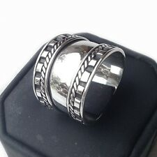 Genuine 925 Bali Design Sterling Silver Wide Band / Cigar Ring (RG12005)