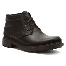Clarks Quarter Men's Chukka Leather & Canvas Ankle Boots Style 66219 Black