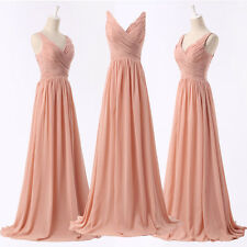 Sexy Long Formal Evening Bridesmaid Dress Party Gown Prom Dresses US 2 4 6 8 10+