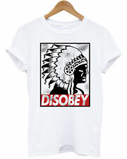 DISOBEY INDIAN T-SHIRT OBEY DRAKE YMCMB OFWG HYPE OMG SWAG NATIVE PRINTED TOP